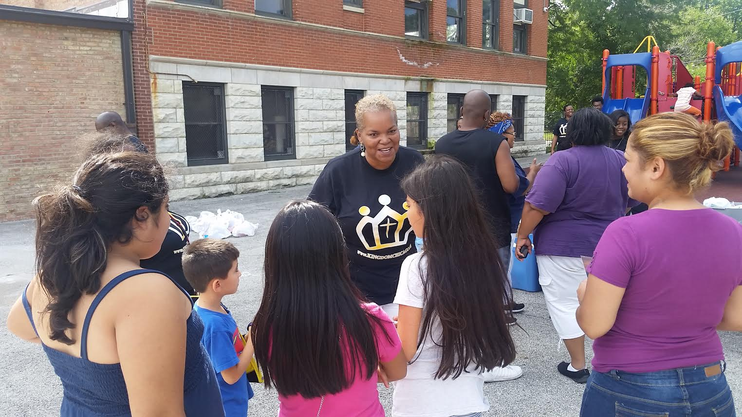 Passing out school supplies / Kingdom Covenant Church