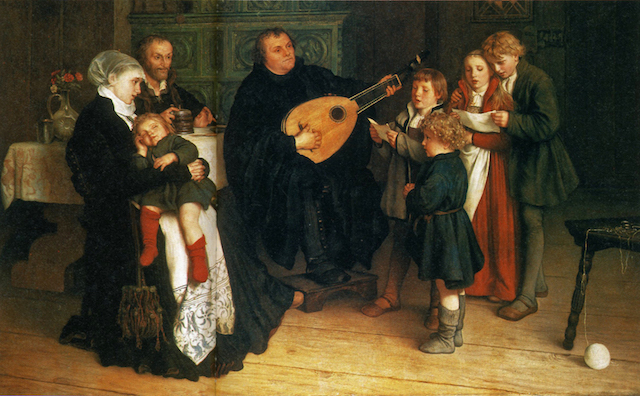 Luther Making Music in the Circle of His Family (1875). Wikimedia Commons.