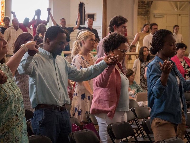 Worship in Clayborn Temple / Photo by Justin Harrison