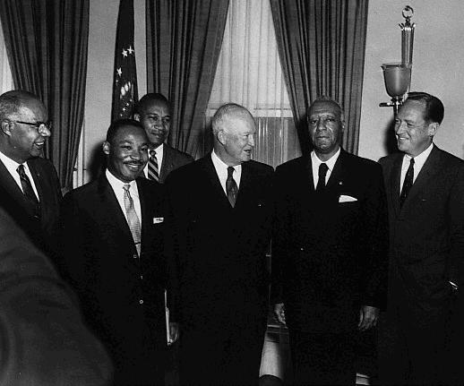 Martin Luther King With Eisenhower