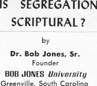 Is Segregation Scriptural? A Radio Address from Bob Jones on