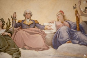 Apotheosis of Washington - Close up of George Washington - U.S. Capitol - Public Domain - Wikimedia Commons