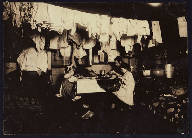 Tenement House, New York City, 1912, Library of Congress.