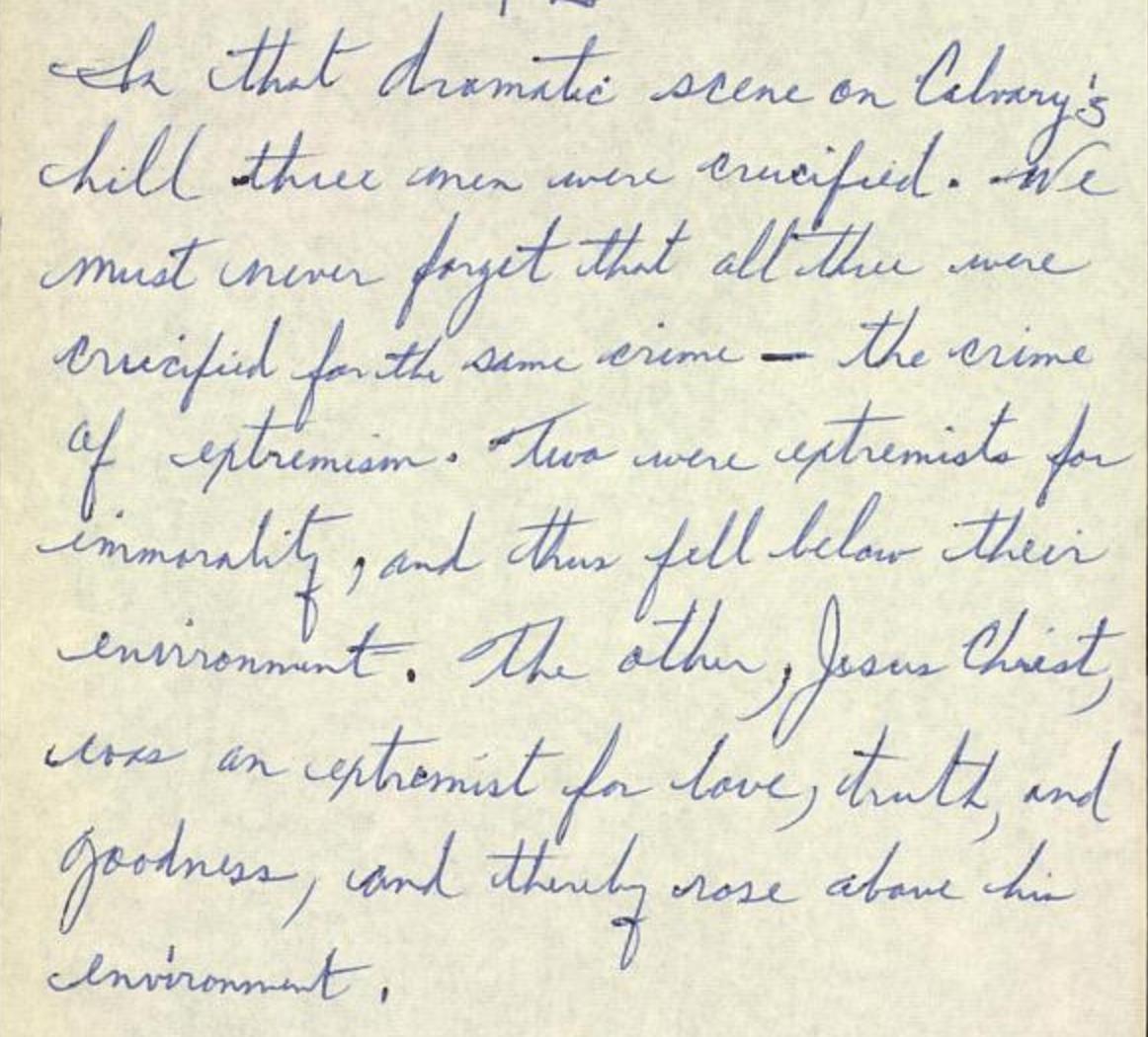 Reading King's Letter from Birmingham Jail