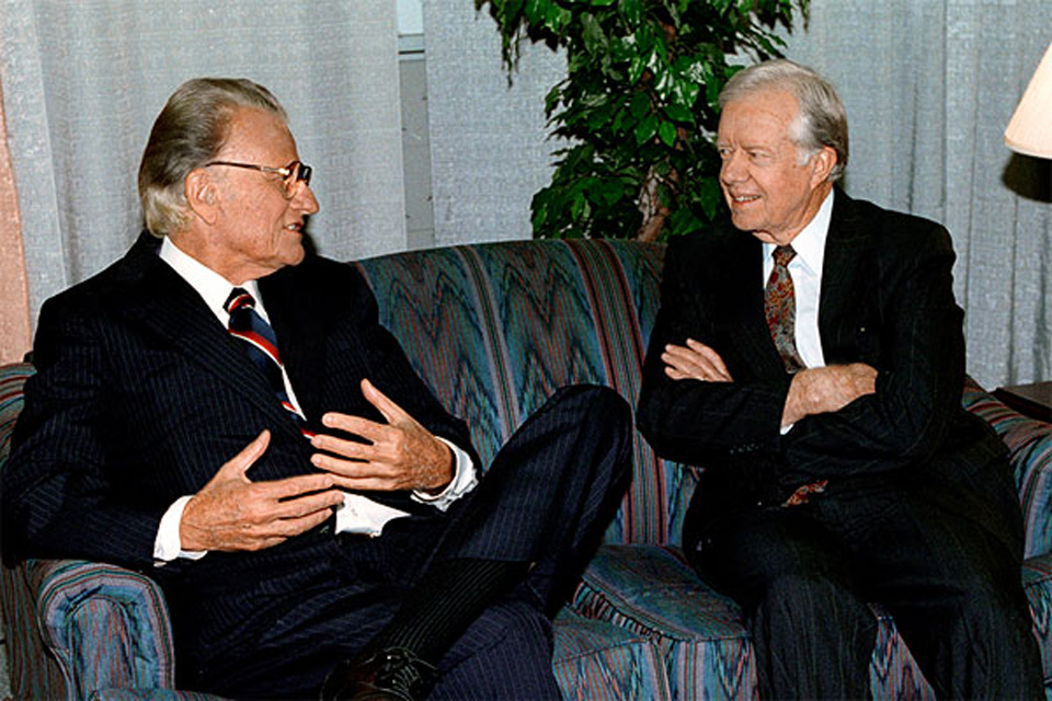 Billly Graham and Jimmy Carter
