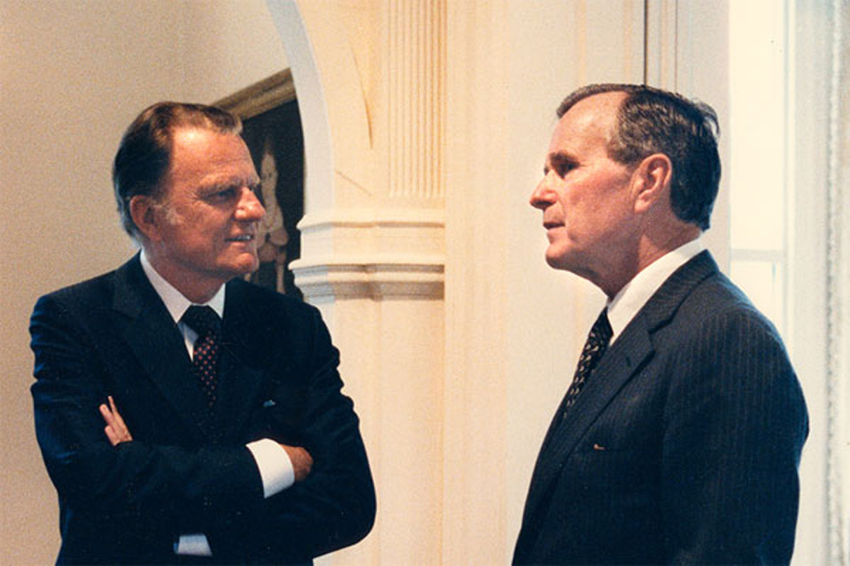Billy Graham and George HW Bush
