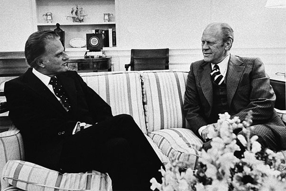 Billy Graham and Gerald Ford