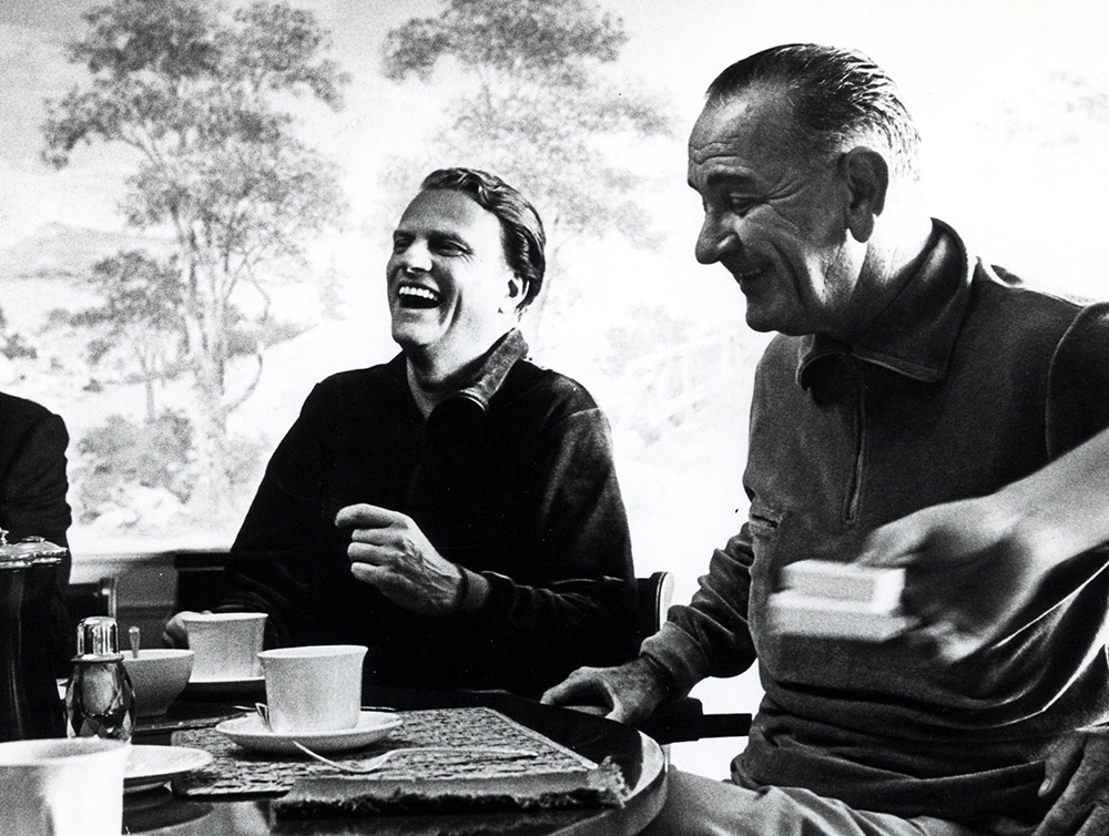 Billy Graham and Lyndon Johnson