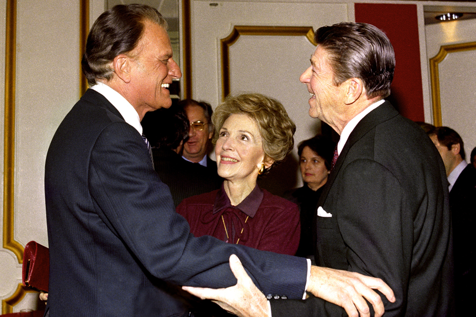 Billy Graham and Ronald Reagan
