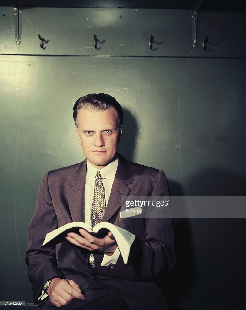 Billy Graham in 1957 at Madison Square Garden