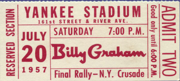 Yankee Graham ticket