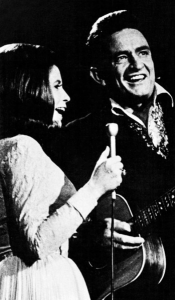Johnny Cash and June Carter, Wikimedia Commons, public domain.