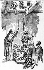 Jesus heals a paralyzed man Luke 5:18-26