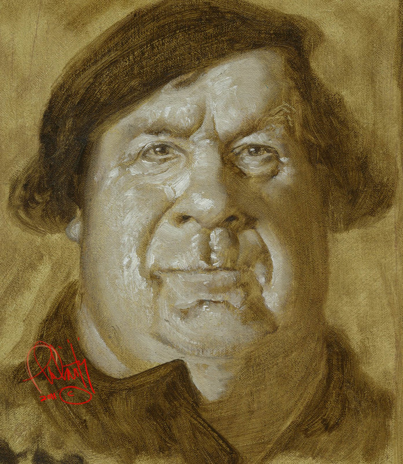 Luther-underpainting