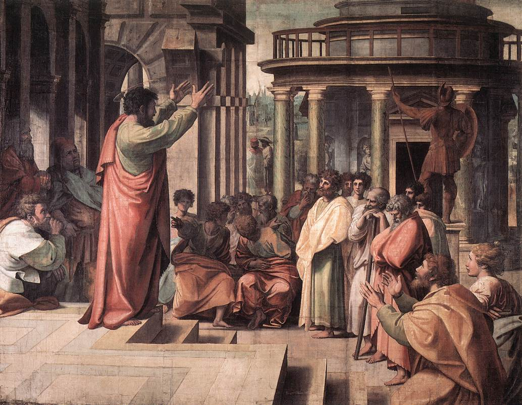 Raphael,_St_Paul_Preaching_in_Athens_(1515)