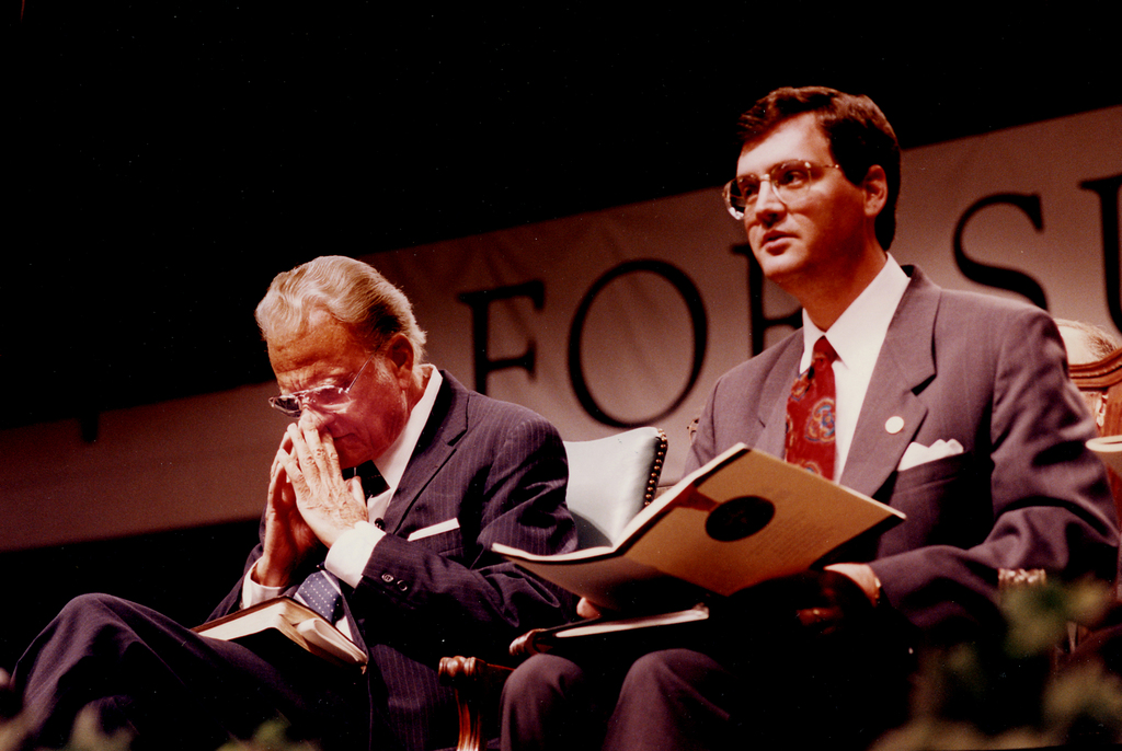 Rev. Billy Graham with Albert Mohler Jr.