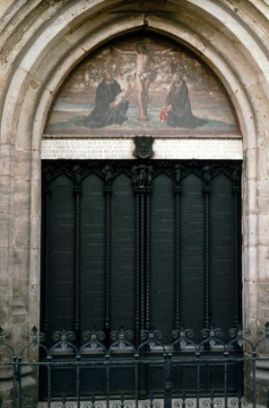 The door of the Schlosskirche (castle church) in Wittenberg, Germany.