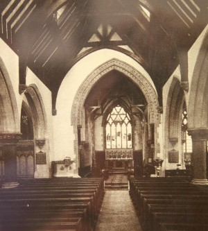 The sanctuary of St Aldate's church in Oxford, c. 1940s.