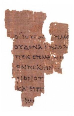 John Rylands Library Papyrus P52, recto [Gospel of John, c. AD 100-150]