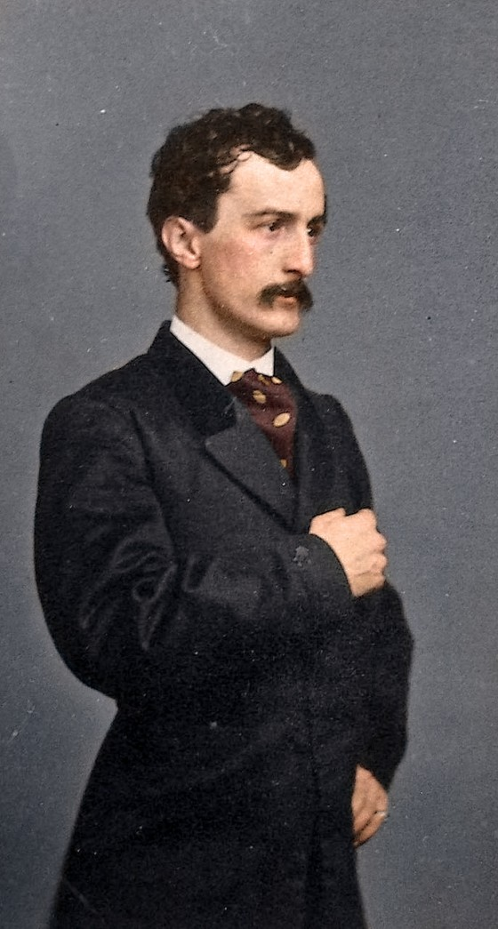 John Wilkes Booth, colorized by Mads Madsen
