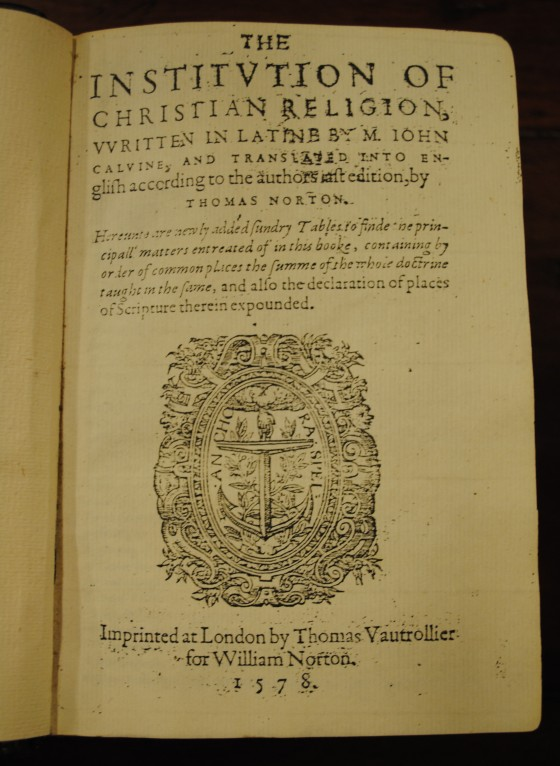 0051-John-Calvin-Institutes-1578-Title-Page