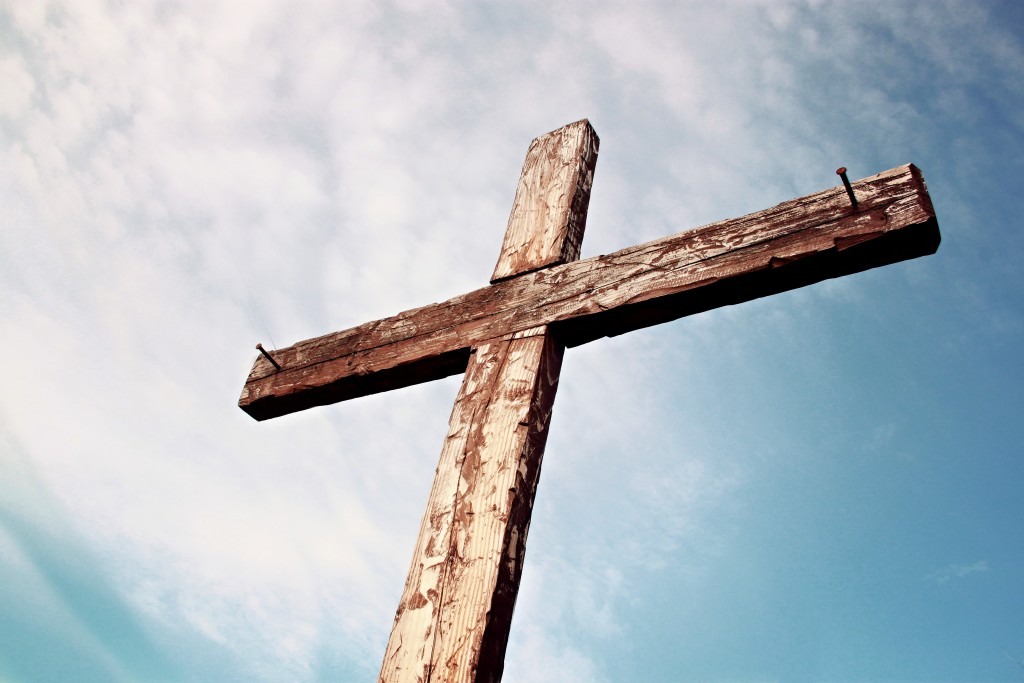 Old-Rugged-Cross-Christian-Stock-Photo