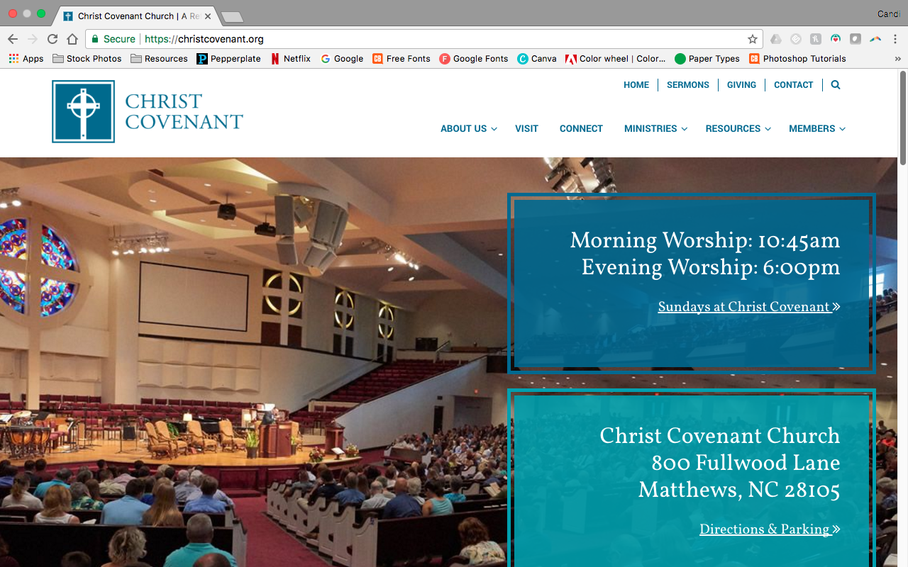 Christ covenant church website redesign and new app baditri Gallery