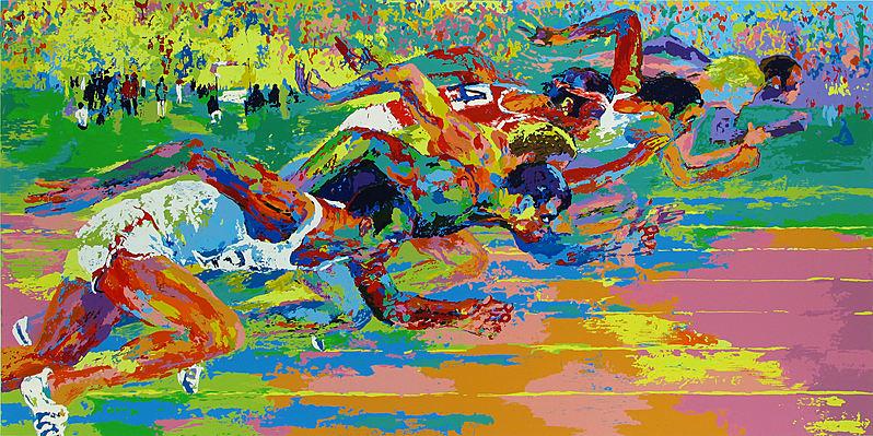 LeRoy-Neiman-Olympic-Track-1976