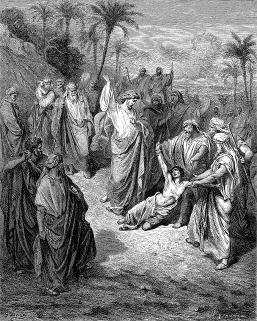 Mt_17_14-15.Gustave_Dore.JesusHealingTheLunatic