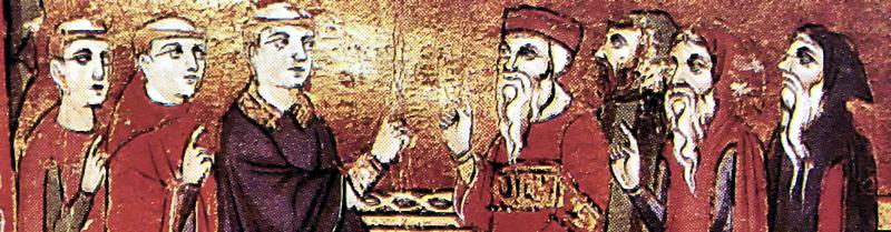 Escolásticos medievales en un debate