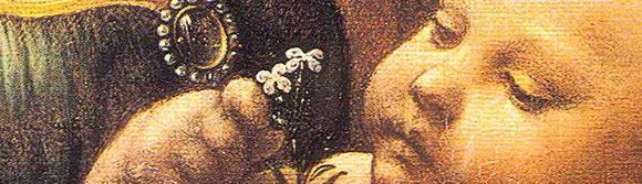 da Vinci detail baby Jesus