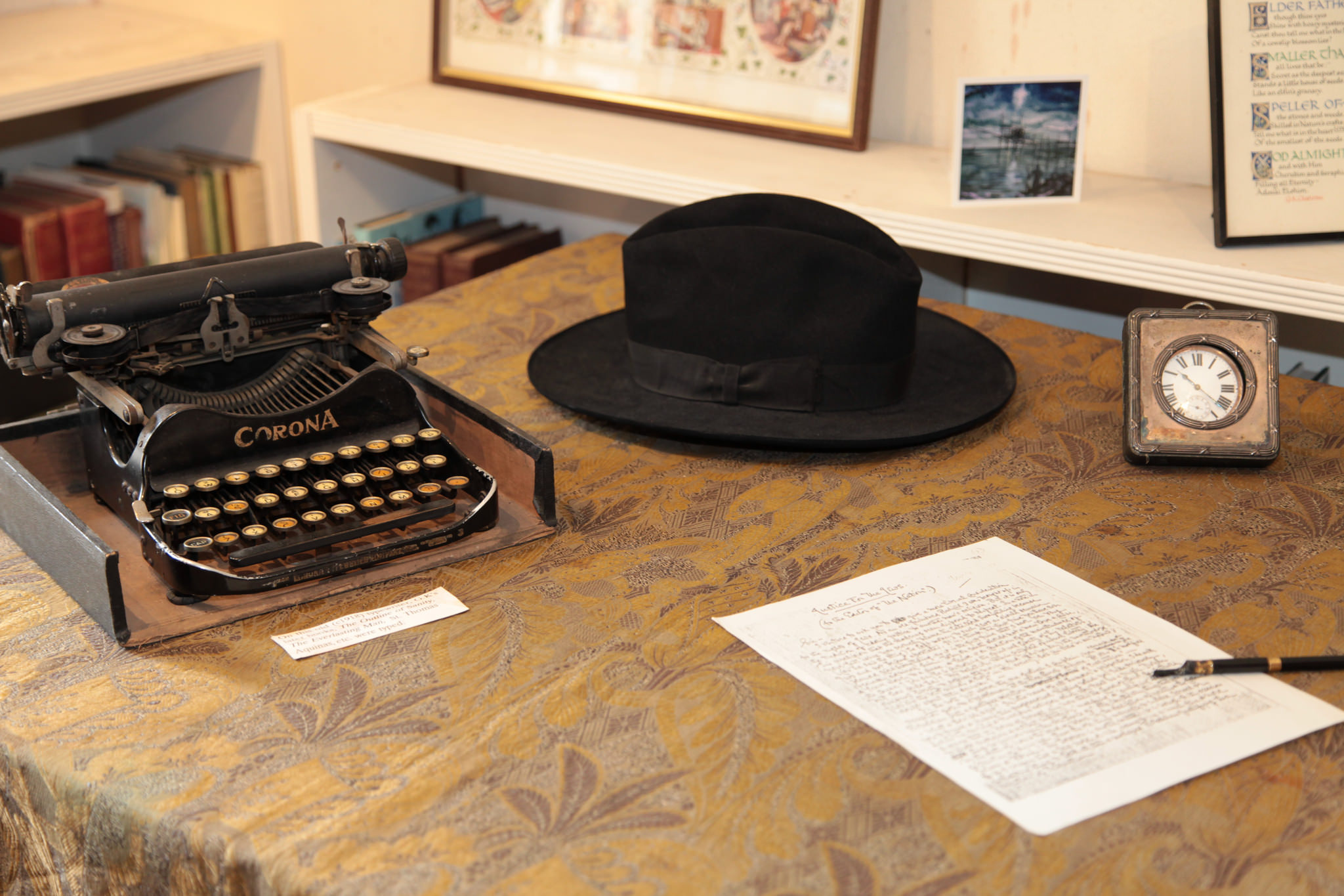 ing the home and grave of g k chesterton tgc chesterton s typewriter and hat copy mmxv br joseph bailham op