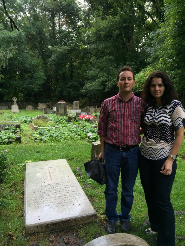 At the grave of CS Lewis