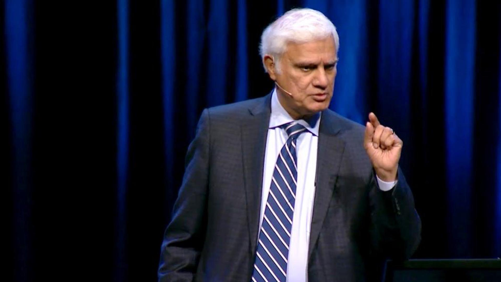 Photo of Ravi Zacharias teaching