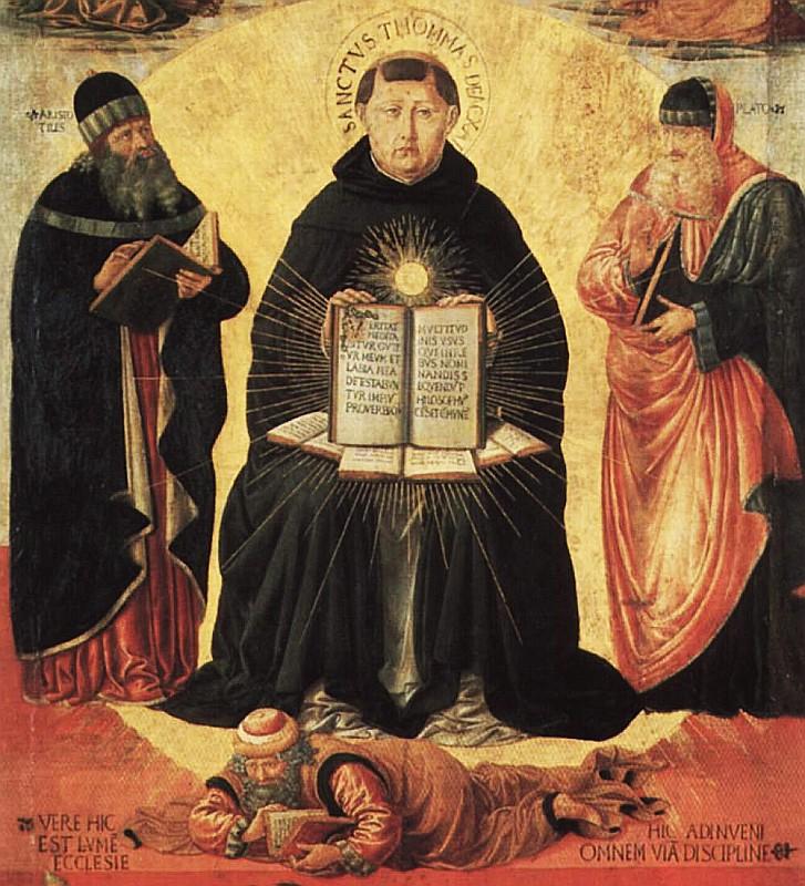 Plato → Aristotle → Augustine → Aquinas