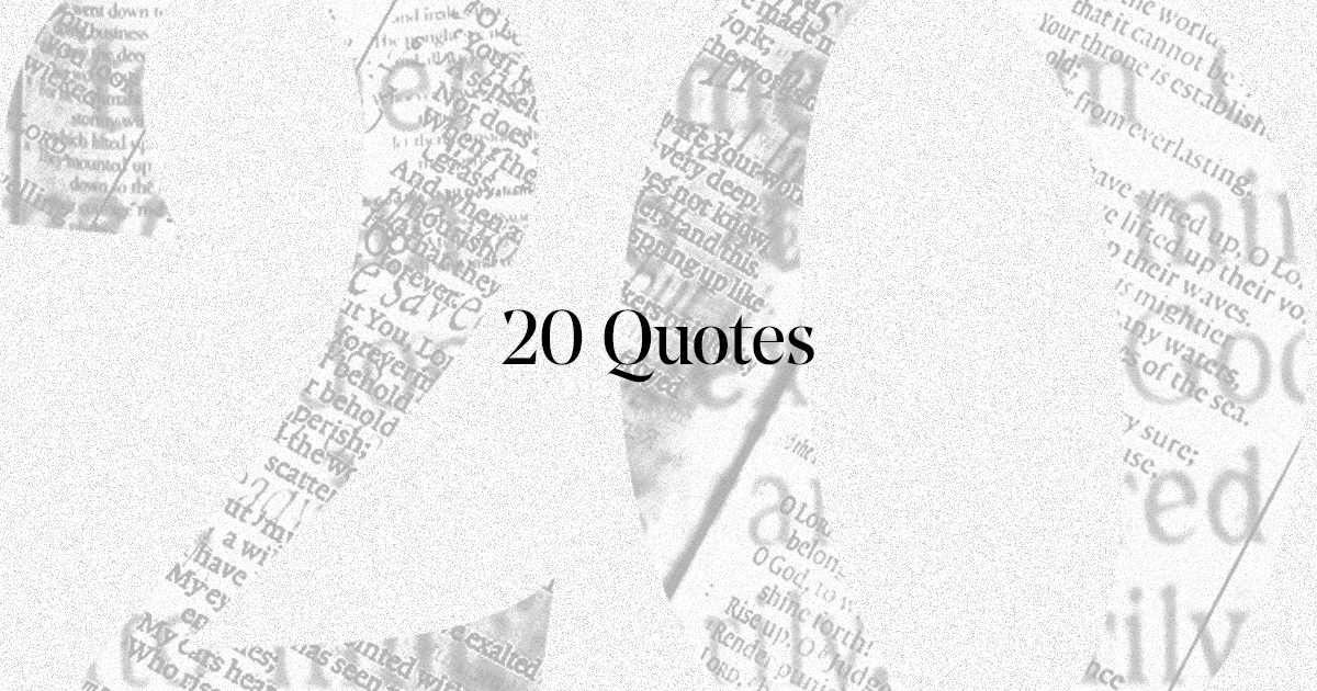 20 quotes and