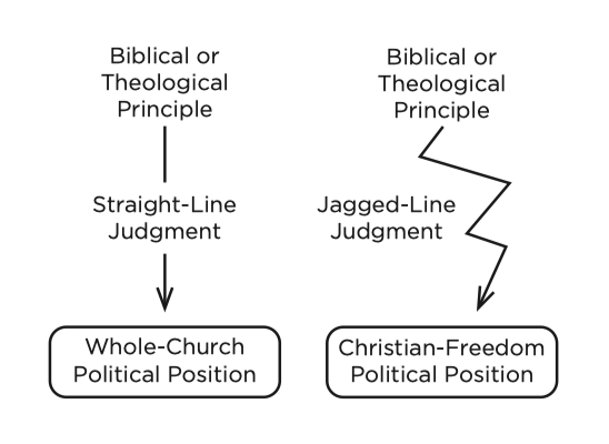 Figure 1. Straight-Line vs. Jagged-Line Political Issue