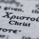 Greek word for Christ on printed page