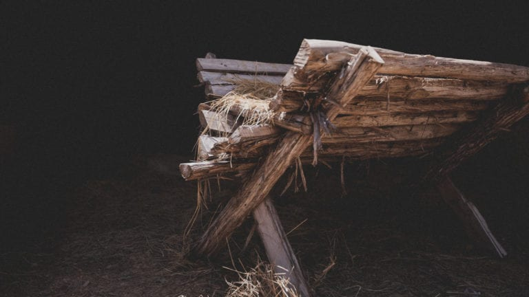 Photo of Jesus's manger