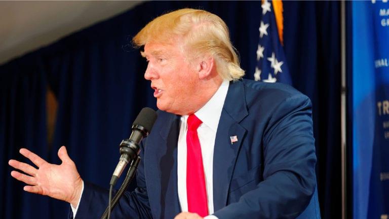 Donald Trump at Laconia Rally in Laconia, NH
