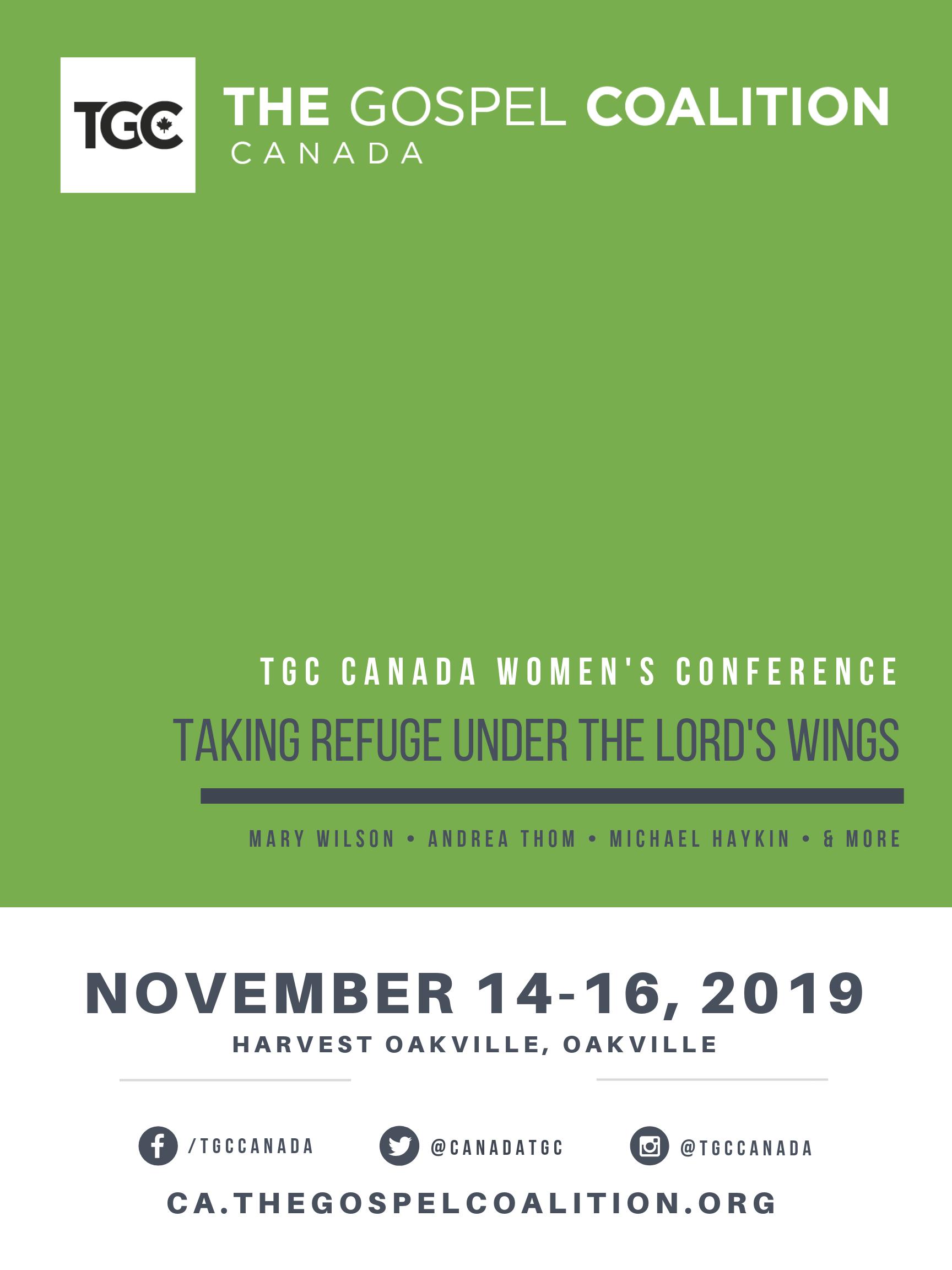 TGC Canada Women's Conference 2019 - The Gospel Coalition   Canada