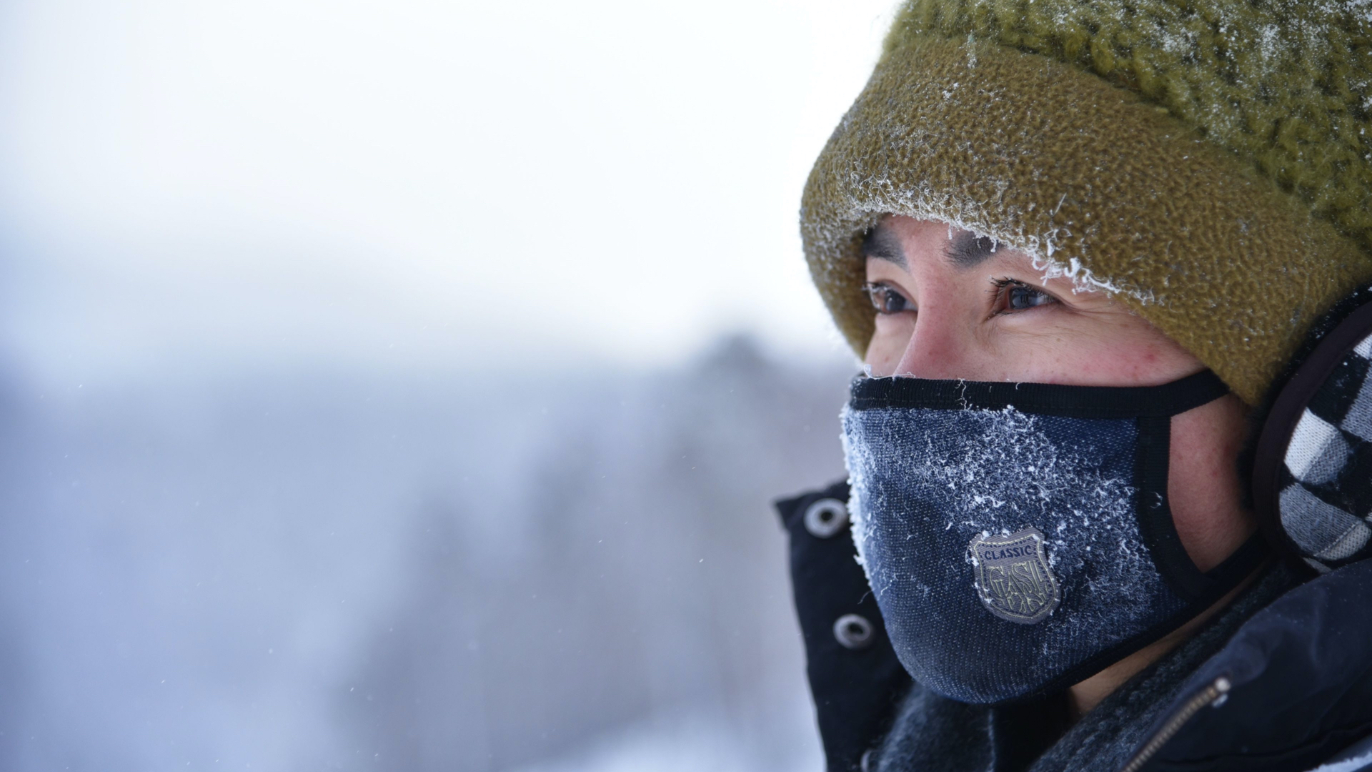 mask in winter