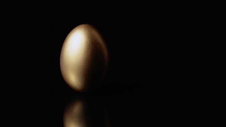 Black Tax - Golden Egg on Black background