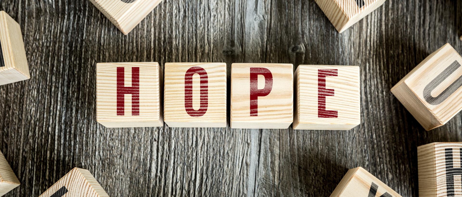 HOPE in block letters