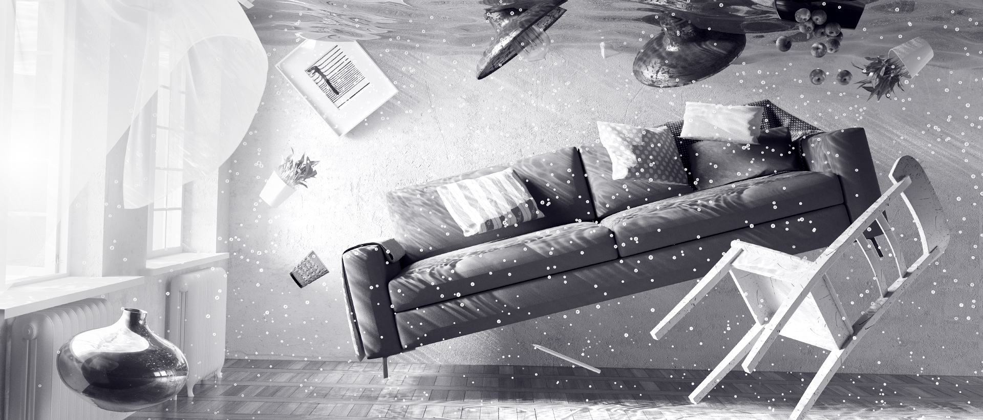 Destroying the Home - lounge set exploding