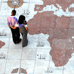 Standing on a map of the world - living with a Biblical worldview