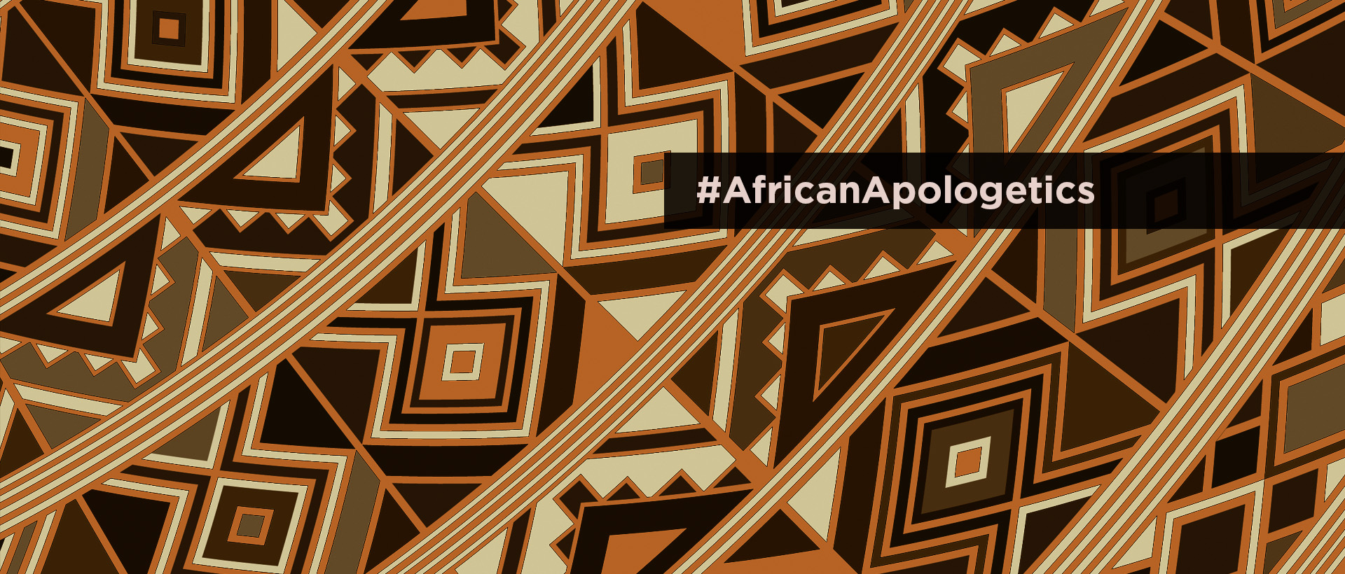 African Apologetics - African print with #AfricanApologetics on it