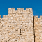 Christ Conquers Temptation - the pinnacle of the temple in Jerusalem