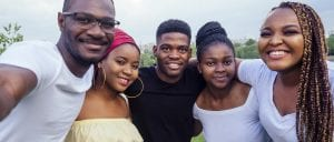Youth Ministry in action - group of young African Christians