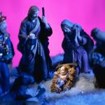 Christmas Nativity focus on Christ